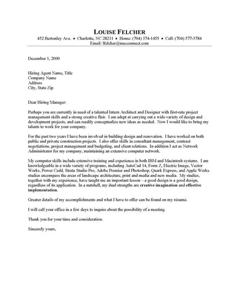 architect cover letter samples catchy sample cover letter architect sample cover letters