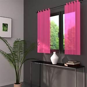 Voilage Vitrage Porte Fenetre : voilage fenetre rose ~ Teatrodelosmanantiales.com Idées de Décoration