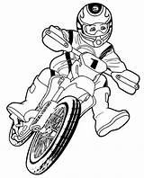 Coloring Bike Pages Mountain Dirt Adults Popular sketch template