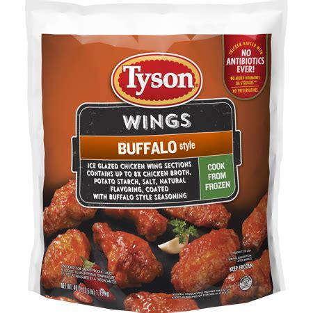 wings tyson chicken buffalo frozen uncooked cook walmart lb