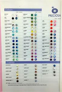 Swarovski Pearls Color Chart Color Charts Color Chart Wicca Crystals Color