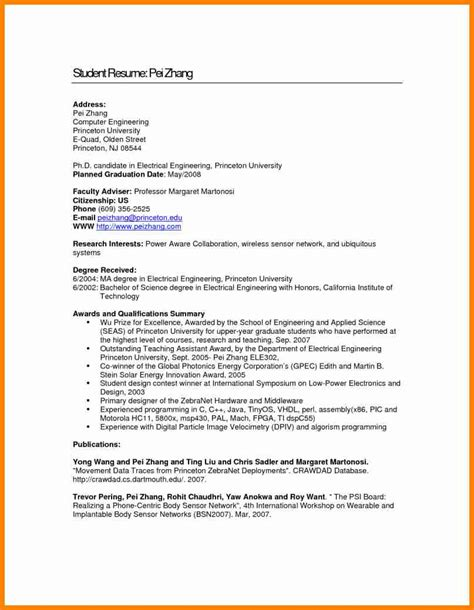 Electrical Engineering Undergraduate Resume by 8 Electrical Engineering Student Resume Mail Clerked