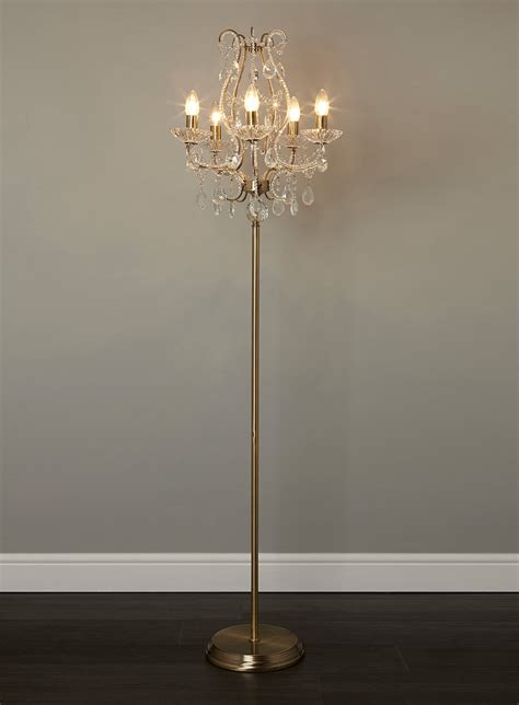 floor chandelier l modern chrome pole floor l shade mid