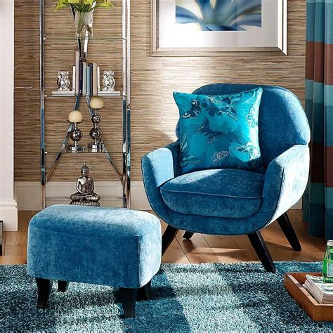 Bedroom Chair And Footstool by Teal Chair Footstool Fabulous Occasional Chair