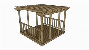 Deck pergola plans - YouTube