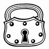 Lock Clipart Door Clip Cliparts Key Library sketch template