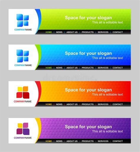 Website Header Template Stock Vector. Illustration Of