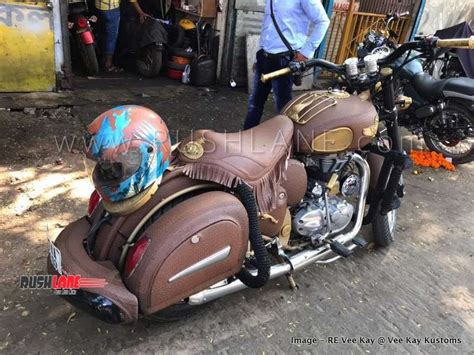 Indian Chief Modification by Royal Enfield Classic Modified To Look Like Indian Chief
