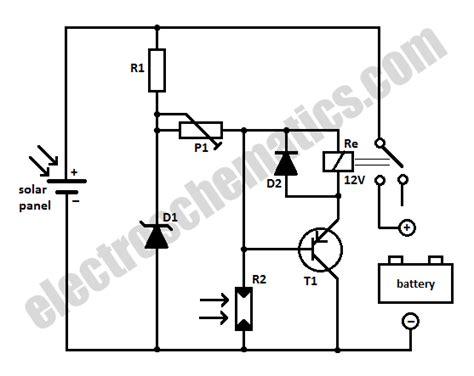 Solar Panel Battery Switch Circuit
