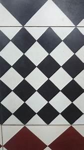 carreaux de ciment decor damier noir et blanc With joint carreau de ciment