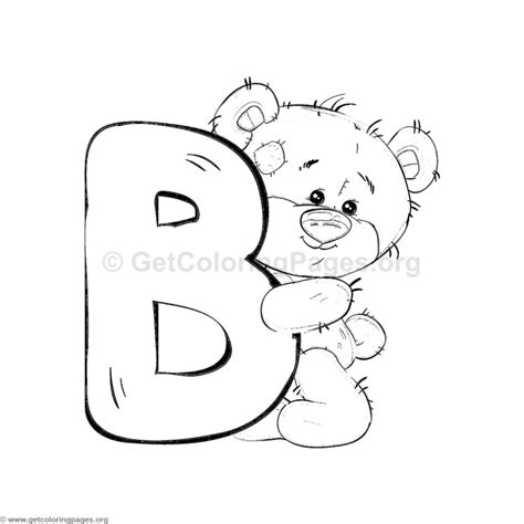 Coloring Letter B by Teddy Alphabet Letter B Coloring Pages
