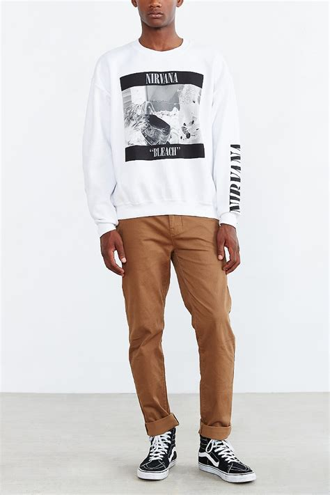 Urban outfitters Nirvana u0026#39;90s Sweatshirt in White for Men | Lyst