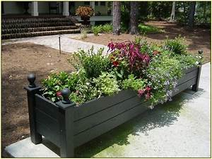 Front, Yard, Planter, Box, Ideas, For, Design, Of, House, Fascinating, 32, Fascinating, Planter, Ideas, For