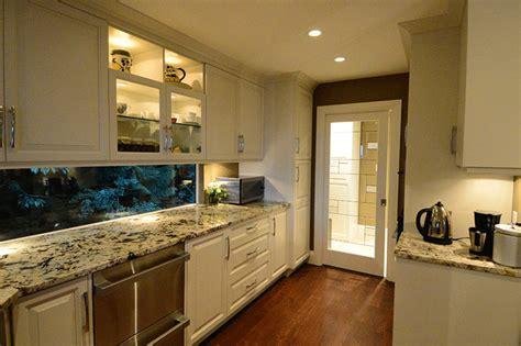 galley kitchen transformation traditional kitchen