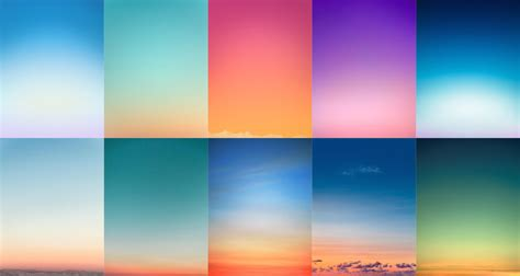 beautiful minimal photographs  sunsets  color