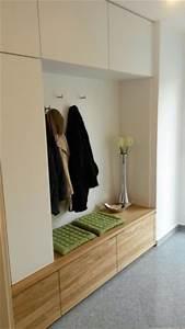 Garderobe Flur : garderobe in eiche massiv und wei matt modern flur ~ Pilothousefishingboats.com Haus und Dekorationen