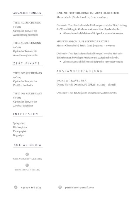 Lebenslauf Vorlage by Premium Bewerbungsmuster 11 Lebenslaufdesigns De