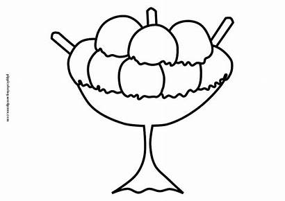 Ice Cream Coloring Pages Sundae Cup Clipart