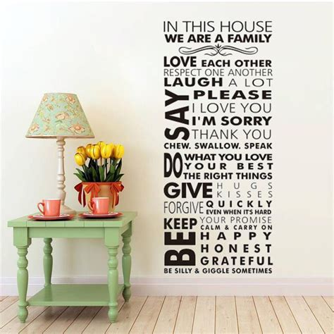 Home Decor Decals by Large We Are Family In This House Vinyl Family Wall