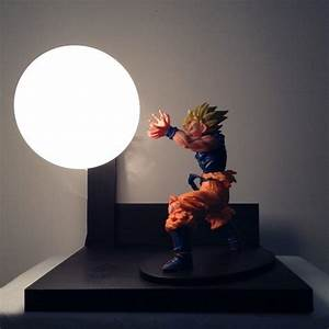 Custom dragon ball z lamp with light up spirit bomb is for Dragonball z table lamp