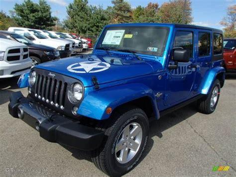 hydro blue jeep hydro blue pearl 2014 jeep wrangler unlimited sport 4x4