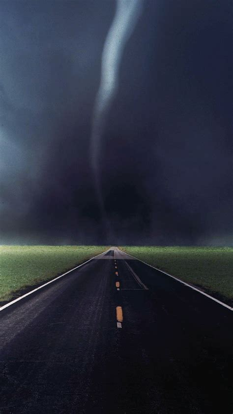 tornado storm touchdown country road highway iphone