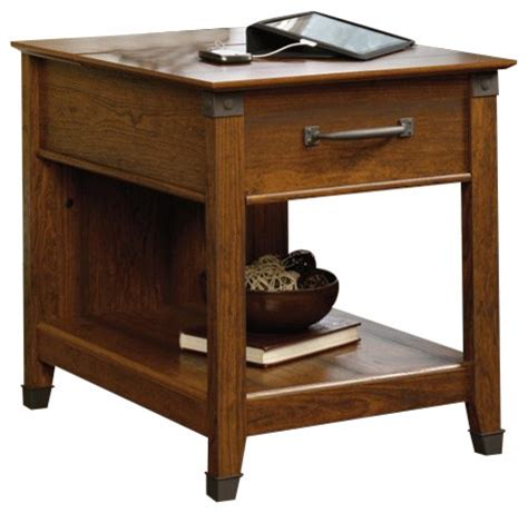 sauder carson forge side table sauder carson forge smartcenter side table in washington