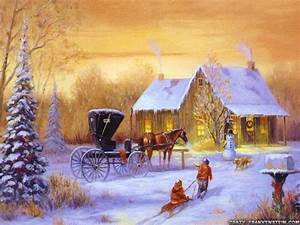 Country, Christmas, Wallpapers