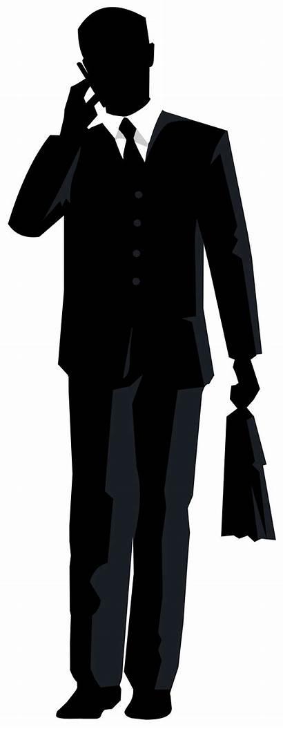 Silhouette Businessman Clipart Transparent Suit Clip Background