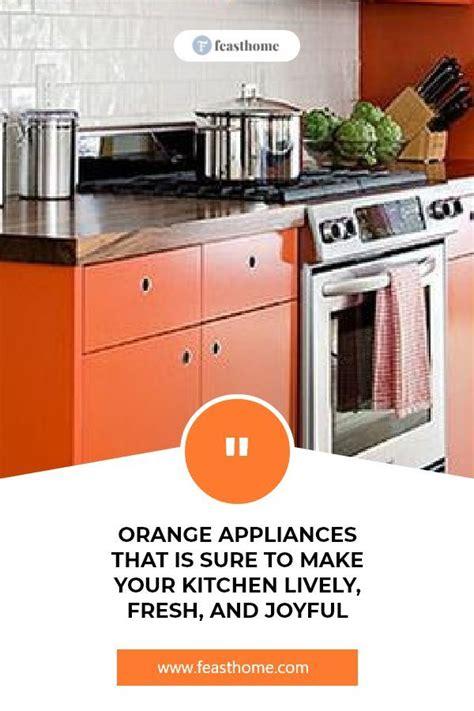 view orange appliances kitchen images desain