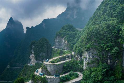 Twisty road at Wulingyuan Park - China : travel