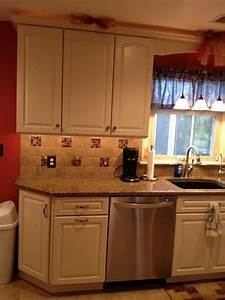 kraftmaid canvas painted cabinets with quartz countertop With kitchen cabinets lowes with set of 2 canvas wall art