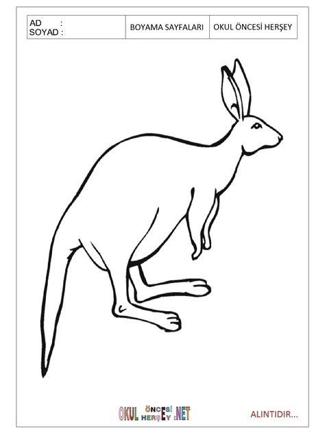 Elegant Kanguru Boyama Sayfalari