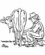 Cow Coloring Farm Pages Animals Milking Boy Chores Boys Farming Printable Sheets Scenes Activity Clipart Sheet Milk Honkingdonkey Kleurplaat Clip sketch template