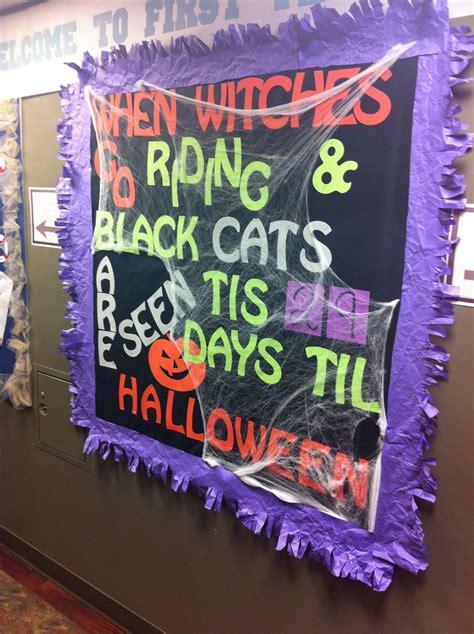 halloween bulletin board lets create  community