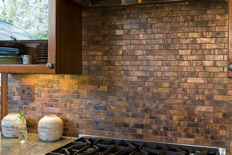 copper backsplash tiles for kitchen 20 copper backsplash ideas that add glitter and glam to
