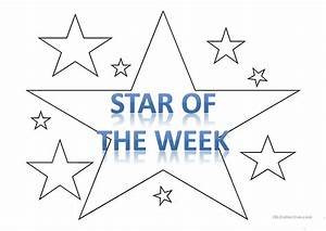 39star of the week39 template worksheet free esl With star of the week poster template