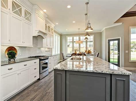 grey kitchen cabinet  granite countertops google
