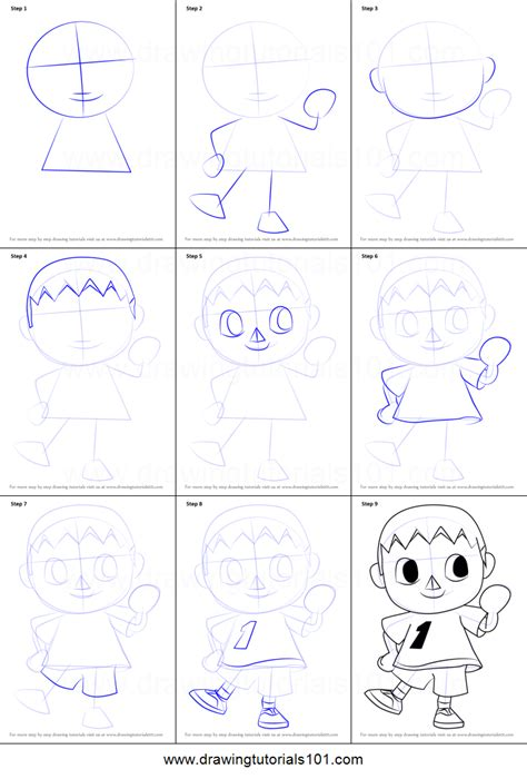 draw  villager  animal crossing printable