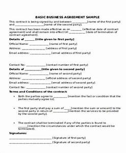 9 business agreement samples free samples examples for Corporate partnership agreement template