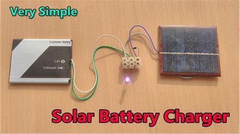 simple mobile battery charging   solar panel youtube