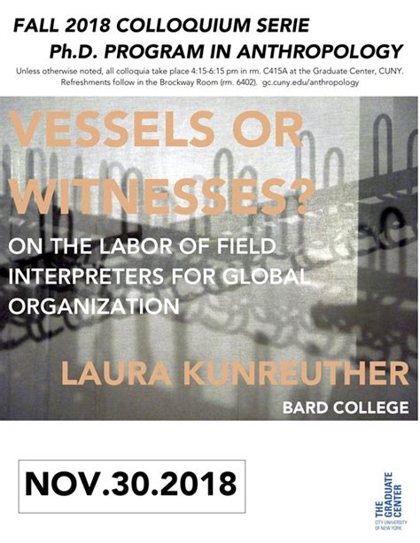 fall colloquium series laura kunreuther