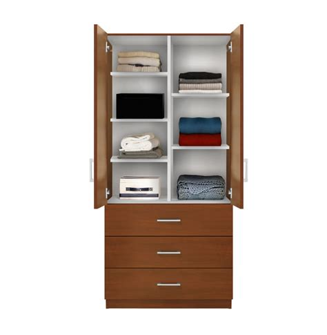 Wardrobe With Shelves by Alta Wardrobe Armoire Adjustable Shelves 3 Drawers