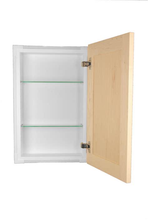 shaker style frameless in wall bathroom medicine cabinet