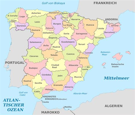File:Spain (mainland), administrative divisions - de ...