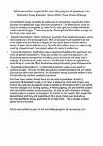 Example Of Illustrative Essay Thesis In A Paper Examples  Examples Illustrative Essay Writing Writing Business Plan Writers In Md also Will Service Uk  Easy Essay Topics For High School Students