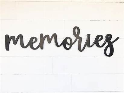 Memories Letters Wooden Memory Wood Letter