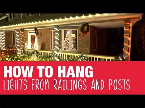 hang holiday lights  railings posts ace