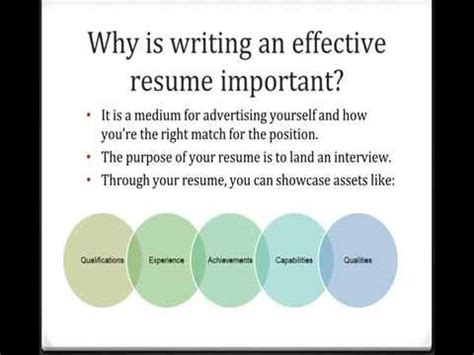 tips for writing an effective tips for writing effective resumes youtube