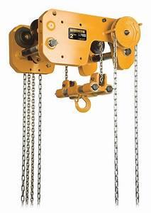 Harrington Chain Hoist  4 000 Lb Load Capacity  20 Ft